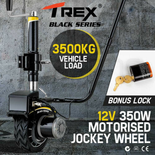 T-REX 12V 350W Motorised Jockey Wheel Electric Power Mover Caravan Trailer Boat <br/> 20% OFF. Must use Checkout Code PATRON20. Ends 29/10.