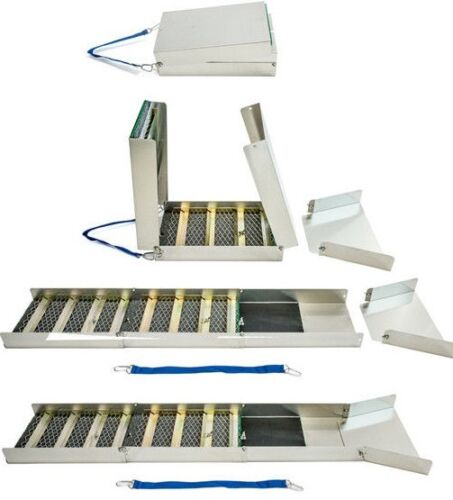 """50"""" Folding Aluminum Sluice Box 15"""" Folded Down Comes With Carpet & Miners Moss <br/> SAME DAY SHIPPING!!!!!!!!!!!!!!!"""