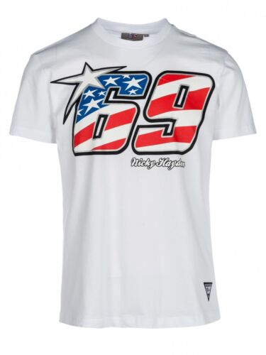 Official Nicky Hayden 69 White T-Shirt - 18 34007
