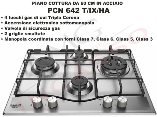 Piano Cottura 75 Hotpoint Ariston PCN 752 T//IX//HA F100592 5 Fuochi Inox