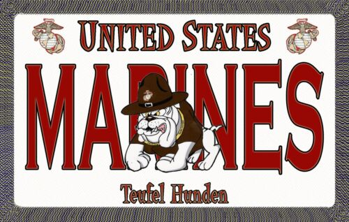 Marine Devil Dog - Magnetic Car Sign - 6in X 3.75inMarine Corps - 66531