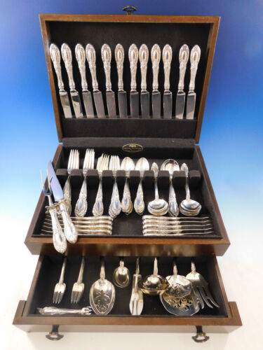 King Richard by Towle Sterling Silver Flatware Set for 12 Service 98 pieces