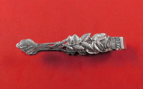 """Hildesheimer Rose by Unknown Silver Sugar Tong 3 1/4"""""""