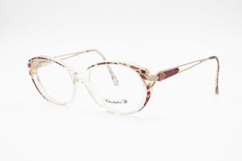 Christopher D. round clear glasses frame, rainbow colored, Vintage New Old Stock
