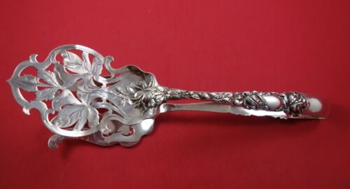 "Bridal Rose by Alvin Sterling Silver Asparagus Serving Tong 10 1/8"" Rare"