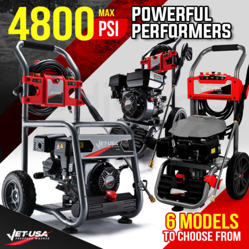 Jet-USA Petrol-Powered High Pressure Cleaner Washer Power Water Jet Hose Pump <br/> World Class Precision Design, Build & Quality Control.