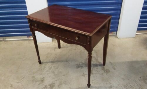 Antique Writing Wood Desk, large drawer and 2 brass knobs circa 1910 Americana