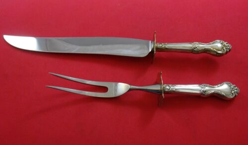 Amaryllis by Manchester Sterling Silver Roast Carving Set 2pc HH WS