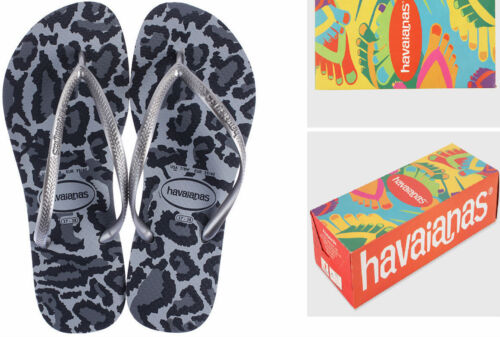 New Havaianas Animals Thongs in Grey