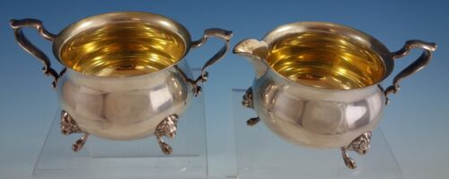 Georgian by Poole Sterling Silver Sugar and Creamer Set 2pc (#2541)
