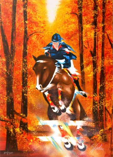 Victor Spahn - Show Jumping (lithograph, hand-signed & numbered, edition of 300)