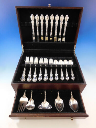 Du Barry by International Sterling Silver Flatware Service for 8 Set 37 pieces