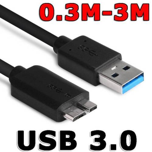 USB 3.0 Male A to Micro B Hard Drive Flexible Cable For Seagate WD PC or Camera