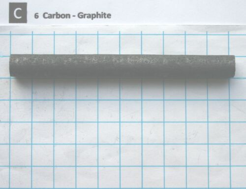 11,50 gram 99,95% carbon graphite rod 100x10mm element 6 sample