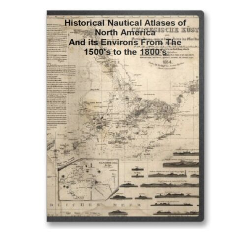 71 Historic Nautical Atlases 1500's to 1800's North America Indies Cuba CD - B93