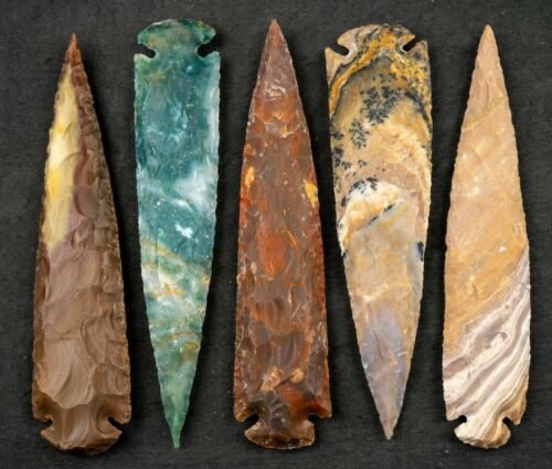 """*** 7"""" Flint Spearhead Arrowhead OH Collection Project Point Knife Blade ***"""