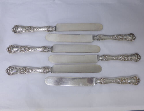 George SHIEBLER STERLING Silver AMERICAN Beauty Knives