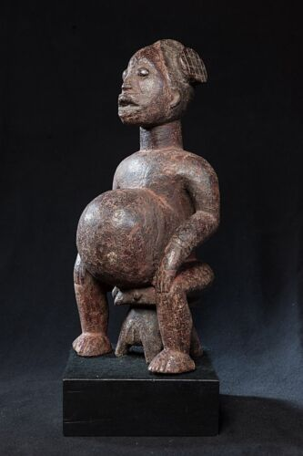 Babanki Seated Ancestor Figure, Cameroon, African Tribal Art.