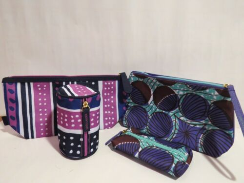 NEW 4 X Estee Lauder Cosmetic Case Makeup Travel Bag ( 2 LARGE & 2 SMALL)