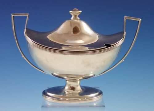 Crispin Fuller English Sterling Silver Sauce Boat with Lid circa 1798 (#2729)