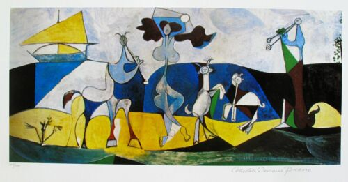 Pablo Picasso THE JOY OF LIVING Estate Signed & Numbered Giclee Art