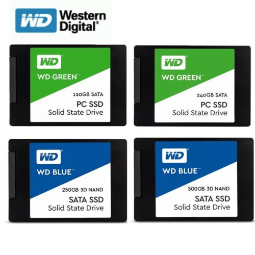 SSD 120GB 240GB 250G 500G WD Green Blue Internal Solid State Drive HDD 2.5'' <br/> $10 OFF  $100 * code PLUSDE1 * EbayPlus * Best Price