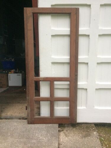 ANTIQUE Screen DOOR NEW ENGLAND 5 Panel 19th CENTURY EXTERIOR 80 1/2 x 32
