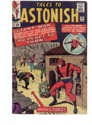 TALES TO ASTONISH GIANT MAN & THE WASP 54 FN 6.0 SILVER AGE MARVEL COMICS