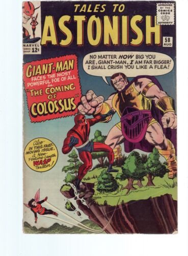 TALES TO ASTONISH GIANT MAN & THE WASP 58 VG 4.0   SILVER AGE MARVEL COMICS