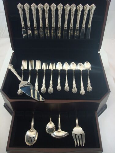 Savannah by Reed & Barton Sterling Silver Flatware Service for 12 Set 65 Pieces