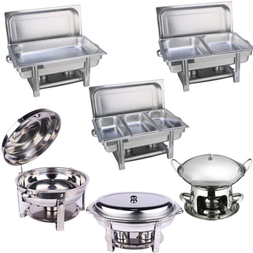 Multi Stainless Steel Bain Marie Chafing Dishes Buffet Food Warmer Pan Heater AU