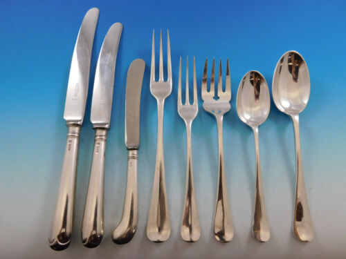 Queen Anne by Cooper Bros England Sterling Silver Flatware Service Set 48 pieces