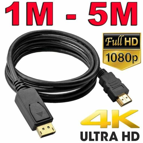 Displayport DP to HDMI Cable Male to Male HD 1080P High Speed Display Port Lead