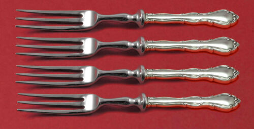 "Fontana by Towle Sterling Silver Fruit Fork Set 4-Piece HHWS 6"" Custom Made"