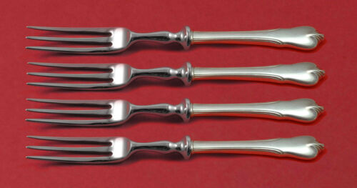 """Grand Colonial by Wallace Sterling Silver Fruit Fork Set 4-Piece HHWS 6"""" Custom"""