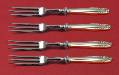 "Stradivari by Wallace Sterling Silver Fruit Fork Set 4-piece HHWS 6"" Custom Made"