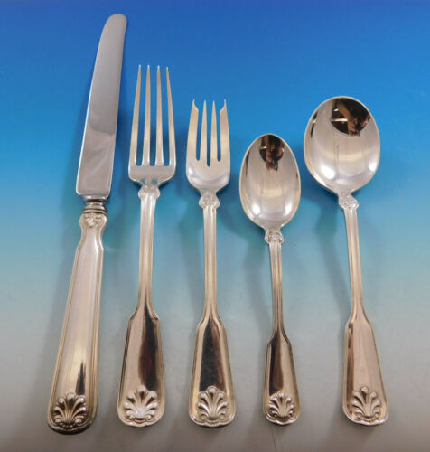 Shell & Thread by Tiffany & Co Sterling Silver Flatware Service Set 22 pc Dinner