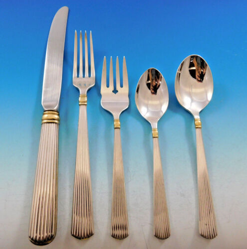Ashmont Gold by Reed & Barton Sterling Silver Flatware Set Service 45 pcs Dinner