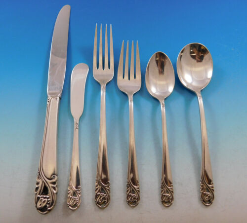 Spring Glory by International Sterling Silver Flatware Service 8 Set 52 Pieces