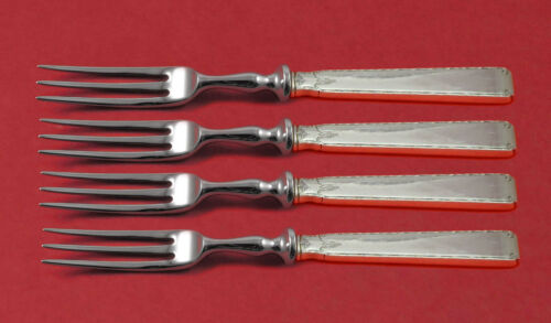 """Old Lace by Towle Sterling Silver Fruit Fork Set 4-piece HH WS Custom Made 6"""""""