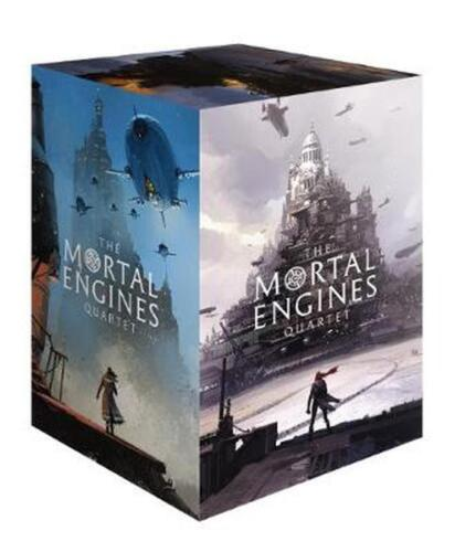 Mortal Engine Quartet Boxed Set by Philip Reeve Paperback Book Free Shipping!