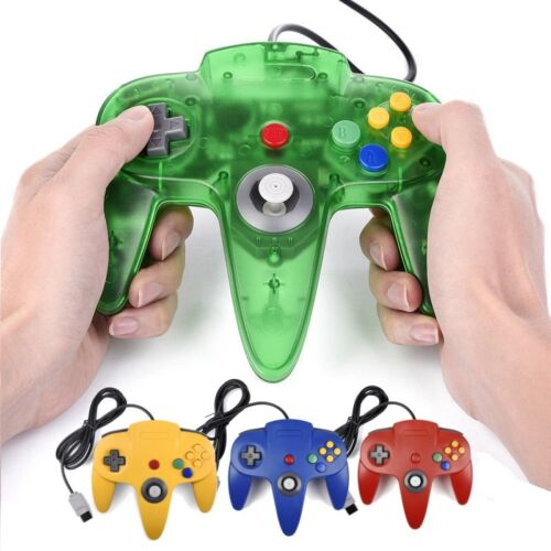 For Nintendo 64 N64 Console Games Long Wired Controller Joystick Gamepad Joypad