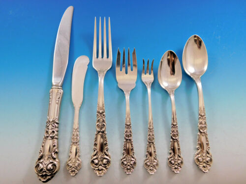 French Renaissance by Reed & Barton Sterling Silver Flatware 12 Dinner Set 84 pc