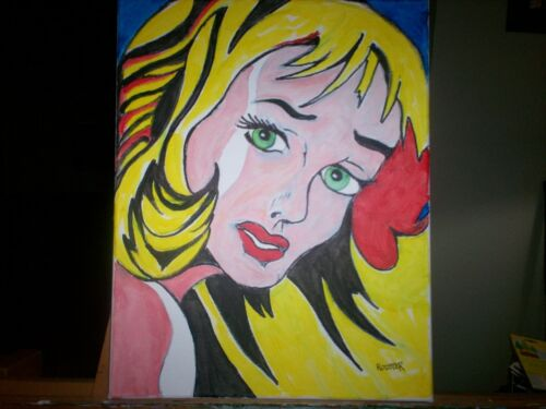 Cool Girl by the artist Rodster 11X14-Original Acrylic