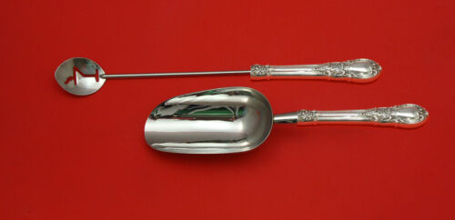 American Victorian by Lunt Sterling Silver Bar Set 2pc HHWS  Custom Made