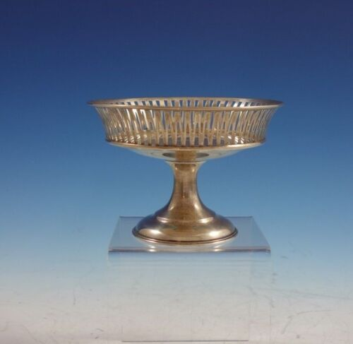 """Lebkuecher Sterling Silver Compote with Pierced Rim 3 1/2"""" x 5"""" #2167/3 (#2997)"""