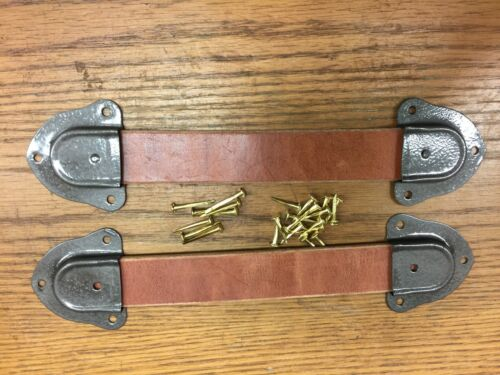 Trunk Hardware-Leather Handle Kits-Trunks & Chests-Bronze Color End Caps -U