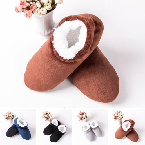 Men Indoor House Winter Slippers Soft Home Bedroom Plush Warm Cozy Shoes Slip-on
