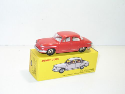 dinky toys, voiture panhard PL17 rouge, dinky atlas ref 547