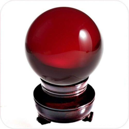 Red Whirl Wood Stand Holder Display Organizer for 60-200mm Ball Crystals Sphere